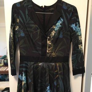 TED BAKER silk dress -worn2x like new